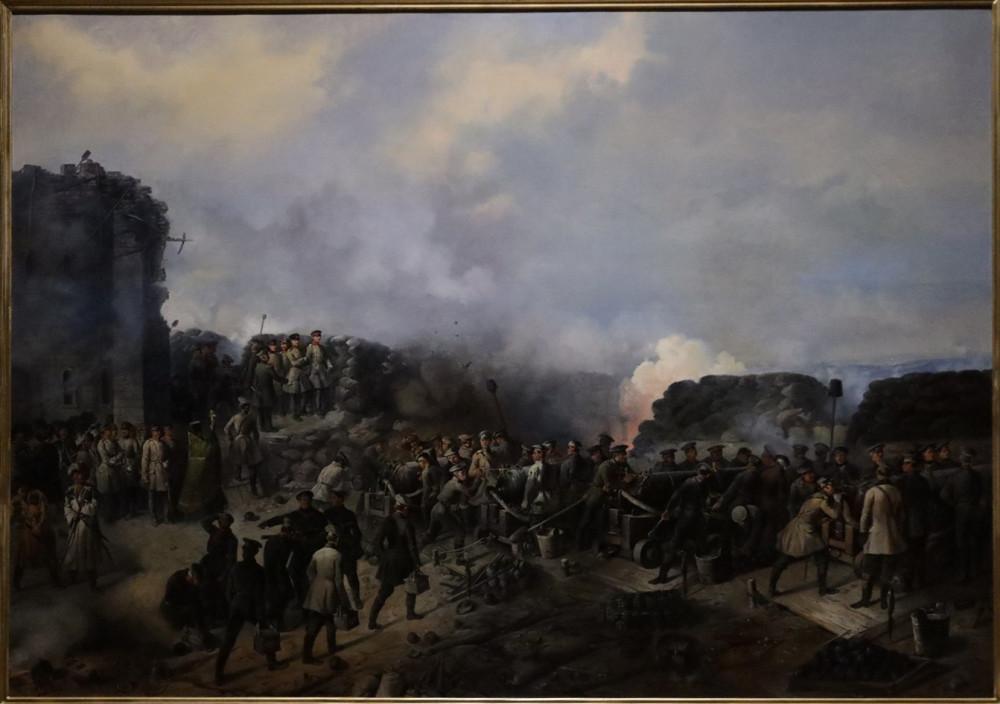 Шукаев Г. Бой на Малаховом кургане в Севастополе в 1855 г. 1856