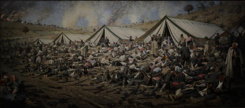 Верещагин В.В. После атаки. Перевязочный пункт под Плевной. 1881