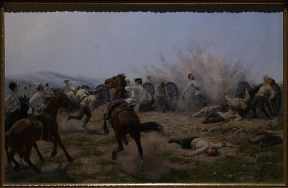 Бунин Н.Н. Смерть генерала Келлера во время боя на Янзелинском перевале. 1904