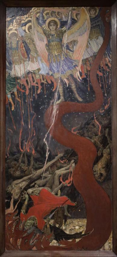 Васнецов В.М. Архангел Михаил повергает дьявола. 1915