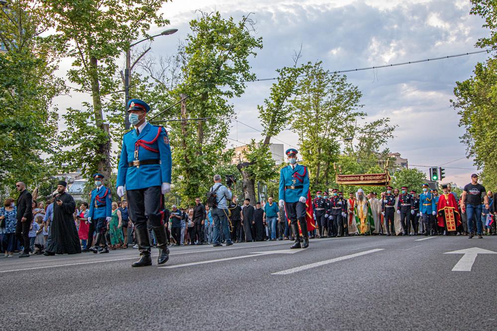 Η Λιτανεία στους δρόμους του Βελιγραδίου
