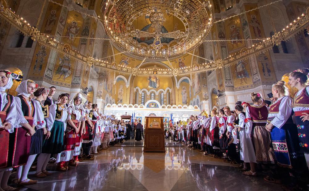 Η δέηση στον Ιερό Ναό του Αγίου Σάββα