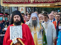Спасовдан в Белграде. Вознесенский крестный ход