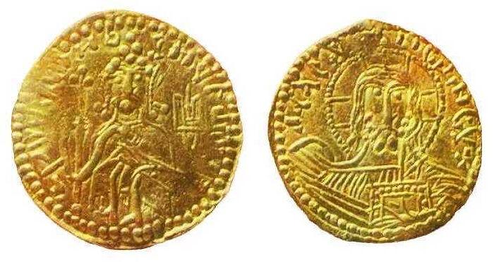 Первая монета собственной чеканки