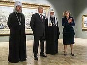 Президент России Владимир Путин и Святейший Патриарх Кирилл посетили выставку в Третьяковской галерее, посвященную 800-летию Александра Невского