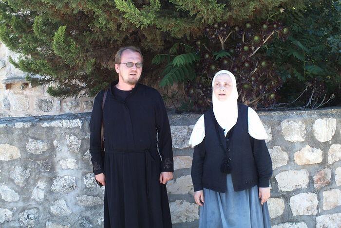 Ο Διάκονος Αλέξανδρος Ζανεμόνετς και η μοναχή Σιλουανή (Γκουλιάεβα)
