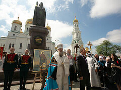 Multiple processions with relics of St. Alexander Nevsky throughout Russia, Belarus