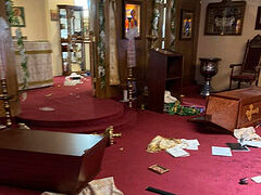 Orthodox charity Order of St. George helping vandalized St. Andrew Church