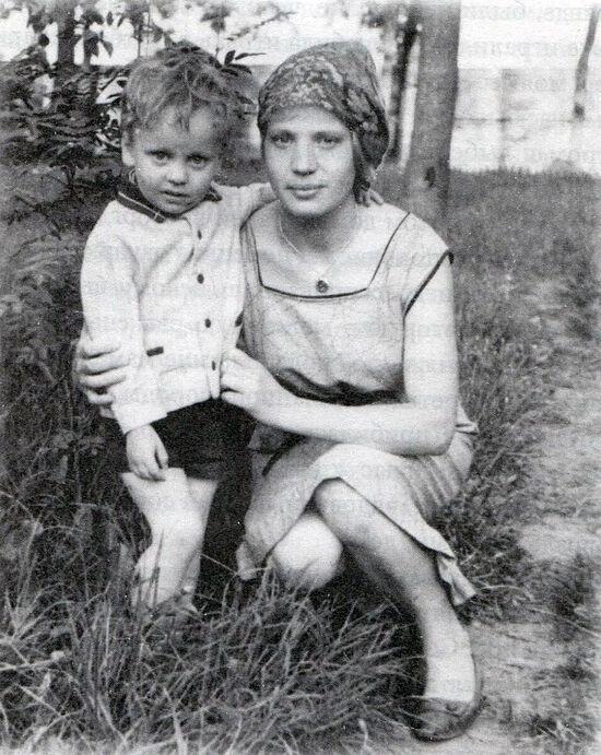 Олег са маjком Галином