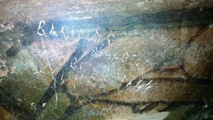Το αυτόγραφο του Βασιλείου Γκριγκορόβιτς-Μπάρσκι στον Ιερό Ναό της Μονής Δοχειαρίου