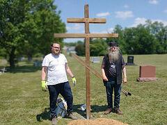 Cross erected on future site of St. John of San Francisco Church in rural Pennsylvania