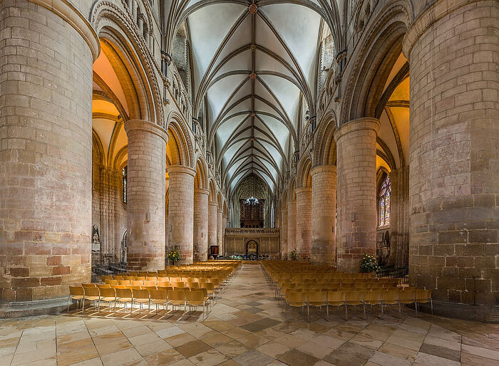 Inside Gloucester Cathedral, Gloucestershire