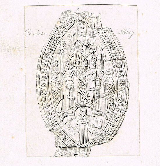 Pershore Abbey's twelfth-century seal (used with the kind permission of Dr. Judith Dale)