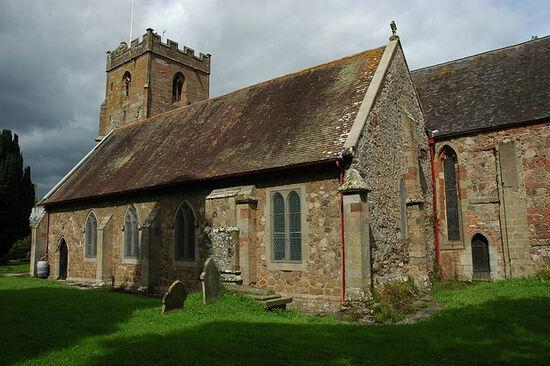 St. Edburga's Church in Leigh, Worcs (photo from Geograph.org.uk)