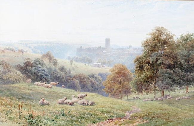 Harold Sutton Palmer. Sheep in a pasture. Photo: bonhams.com