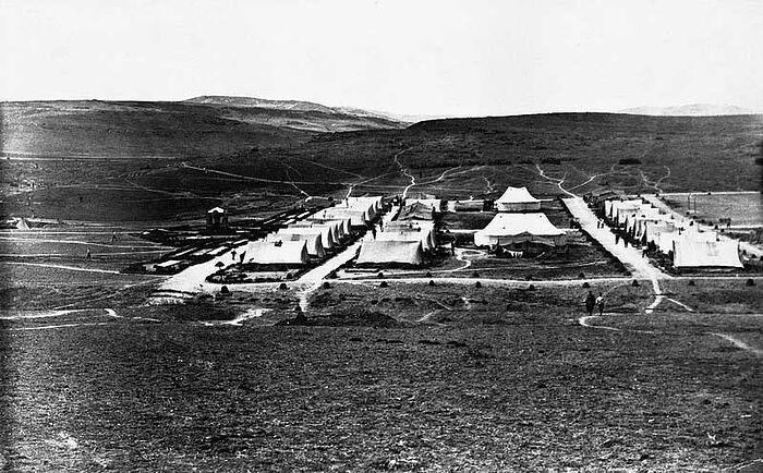 Лагерь Корниловского ударного полка Галлиполи