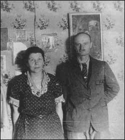 Иван Михайлович и Елена Юрьевна вскоре после свадьбы,1935 год