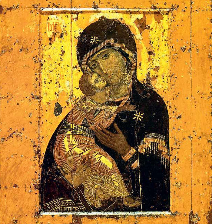 Владимирская икона. XII в.