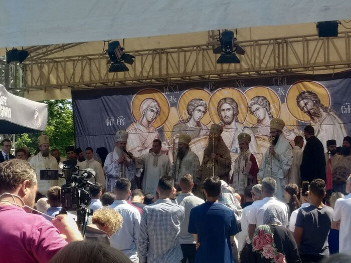 Патриарх Порфирий с епископами