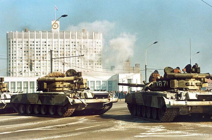 Расстрел Дома правительства Российской Федерации из танков