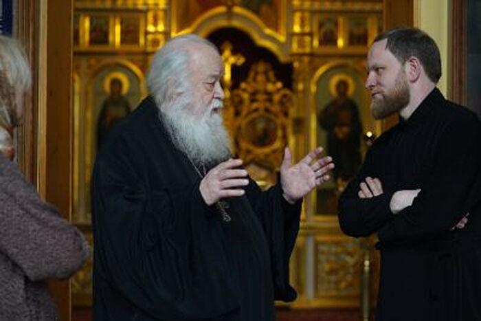 Протоиерей Валериан Кречетов и священник Александр Волков. Фото священника Игоря Палкина