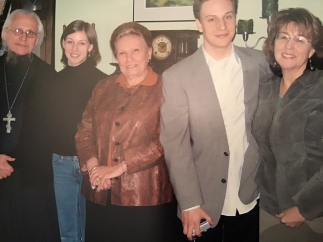 Протоиерей Сергий, Мария Котар их дети, друг семьи Ольга Николаевна Куликовская-Романова