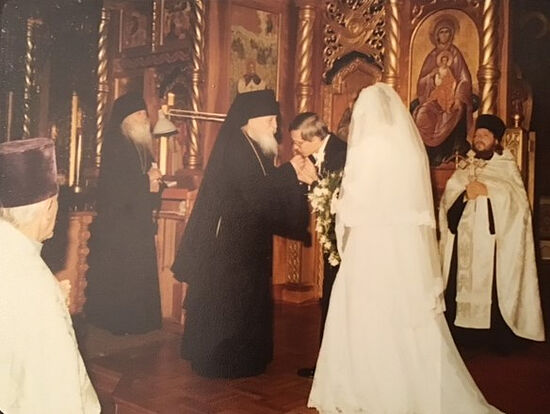 The wedding of Serge and Maria Kotar. Vladykas Anthony and Nektary