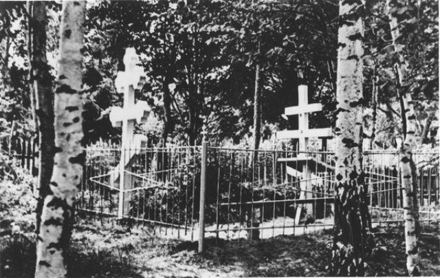 Elder Nektary's grave before the transfer of his relics