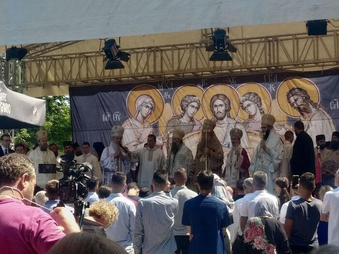 Ο Πατριάρχης Πορφύριος με τους επισκόπους