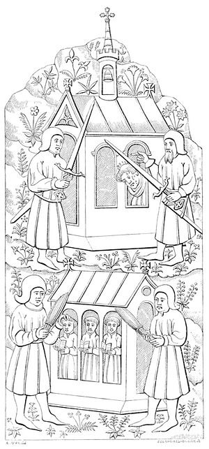 St. Werstan's martyrdom (Archaeological Journal, Vol. 2, from Wikisource.org)