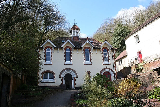 The building of the Holy Well in Malvern, Worcestershire