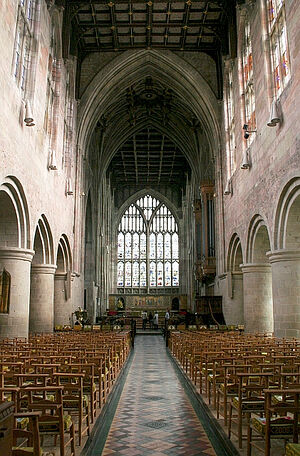 The nave of Great Malvern Priory, Worcs