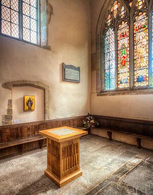 St. Alphege's Chapel in the Deerhurst Church (copyright of Deerhurst Parochial Church Council)