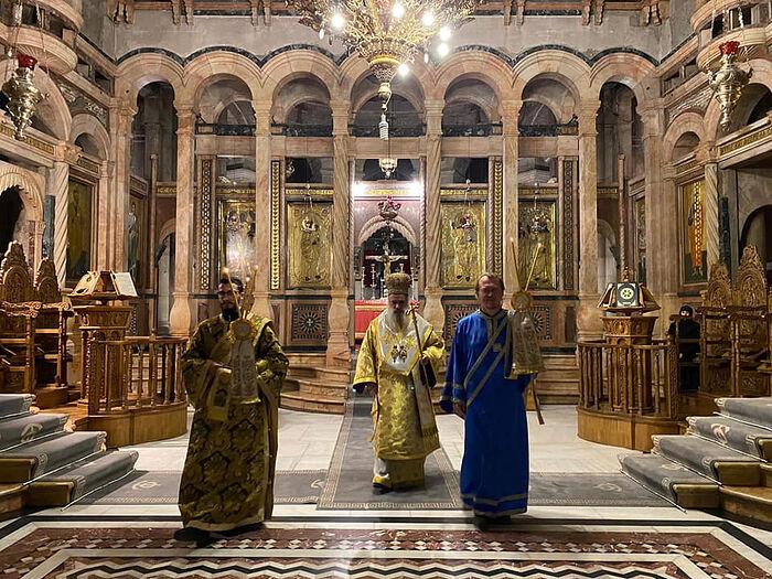 Храм Гроба Господня. Кафоликон. Фото диакона Александра Занемонца