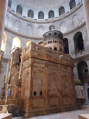 Храм Гроба Господня. Ротонда и кувуклия после реставрации. Фото диакона Александра Занемонца