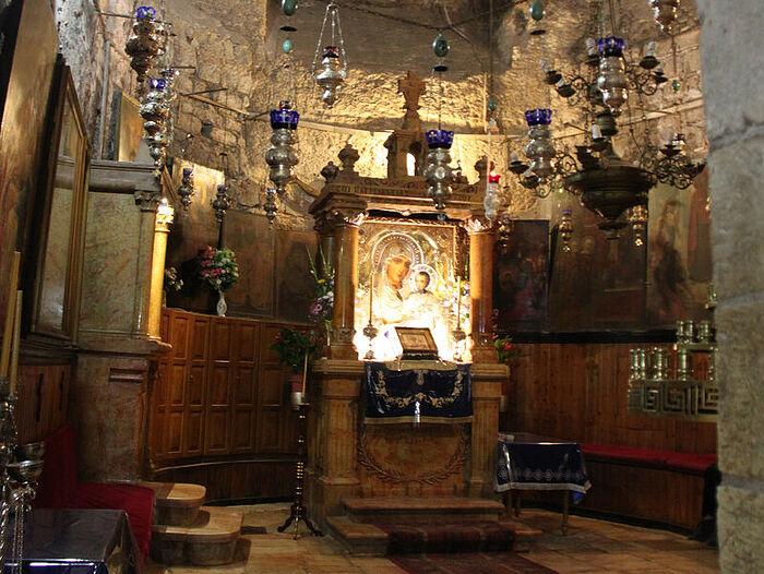 Гефсимания, гробница Богородицы. Иерусалимская икона
