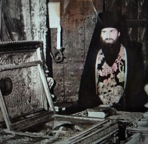 The shrine with the relics of St. Sergius of Radonezh