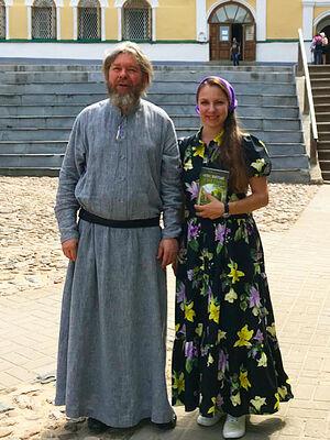Митрополит Тихон с автором статьи, корреспондентом Христиной Поляковой