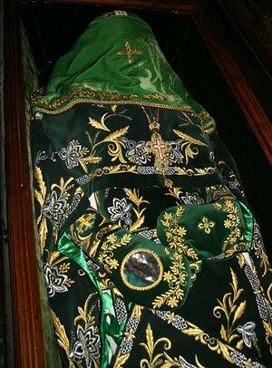 The precious relics of St. Gabriel