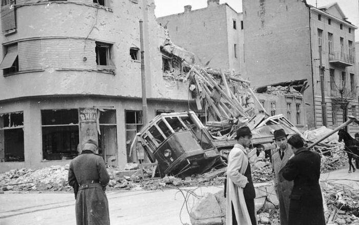 Белград после бомбардировки, 1941 год