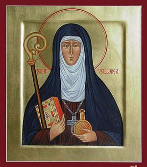 An icon of St. Walburga