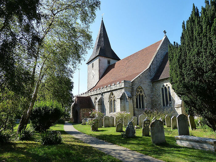 The Holy Trinity Church in Bosham, West Sussex (photo from Wikipedia)