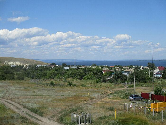 Ахмат, Волга. Вид с крыши храма