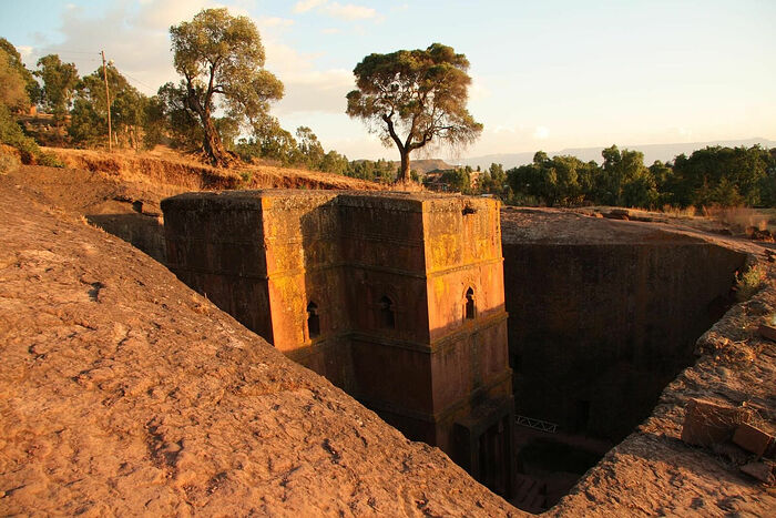 The Church of Saint George is one of eleven rock-hewn monolithic churches in Lalibela, a city in the Amhara Region of Ethiopia. Photo: Alastair Rae