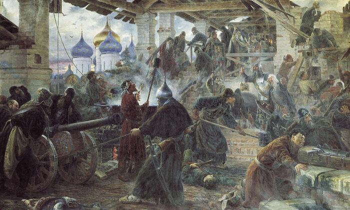 «Оборона Троице-Сергиевой лавры». Картина Сергея Милорадовича