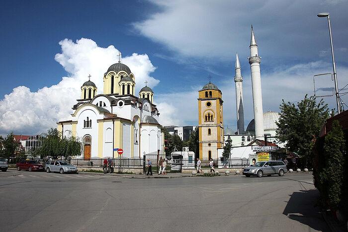 Храм св. Уроша и мечеть, Урошевац