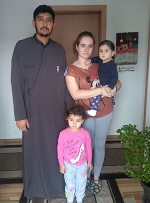 Священник Трайко Влайкович с семьей