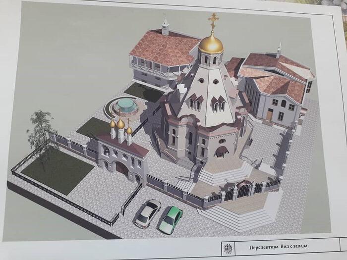 Проект храма Архангела Михаила. Бохтар