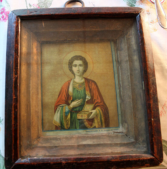 Семейная реликвия Апанасенко-Шаховых – икона великомученика и целителя Пантелеимона