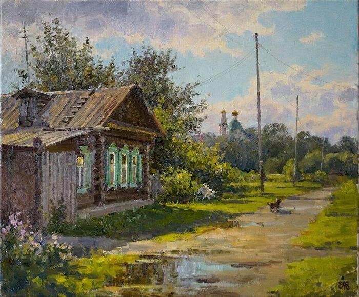 Деревня. Художник: Алексей Ефремов